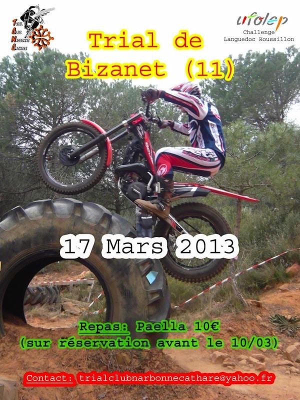 Affiche du trial de Bizanet