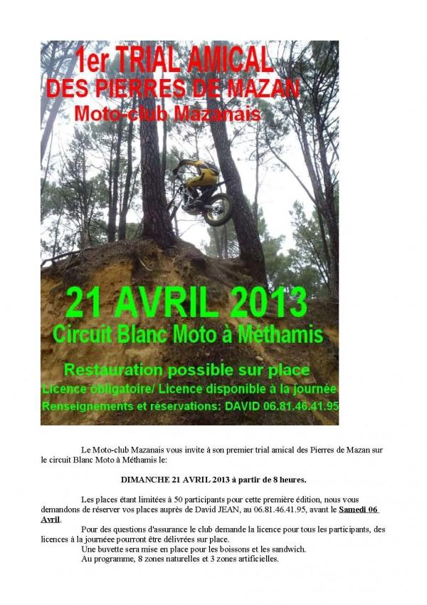 1er trial amical du moto-club mazanais