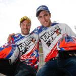 Loris Gubian (Gas Gas) et Alex Ferrer (Sherco), vice-champions du monde par équipe. ©FIM