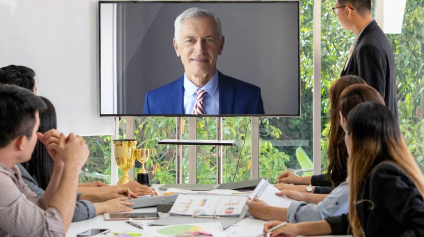 Mediator mediation videoconference screen
