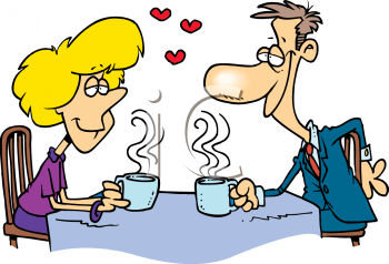 First date in a coffeeshop, safe and comfortable enviroment.