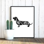 dachshund-floral-1-poster