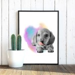 watercolor-little-sausage-tongue-poster