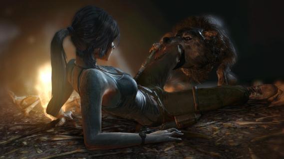 Lara Croft Wolf Attack
