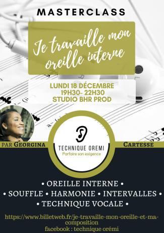Masterclass: Je travaille mon oreille interne @ Studio BHR Prod | Pantin | Île-de-France | France