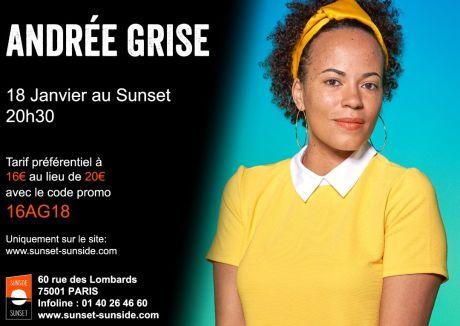 Andrée Grise live au Sunside @ Sunset Sunside | Paris | Île-de-France | France