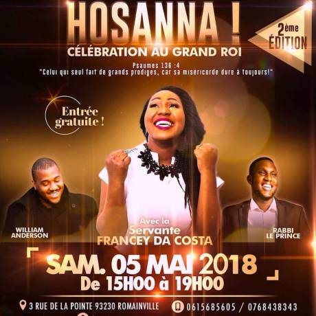 Hosanna, célébration au grand Roi 2 @ Romainville | Île-de-France | France