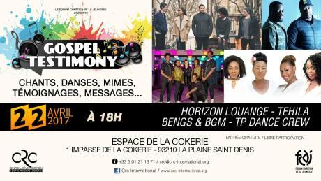 Gospel Testimony @ Espace de la Cockerie | Saint-Denis | Île-de-France | France
