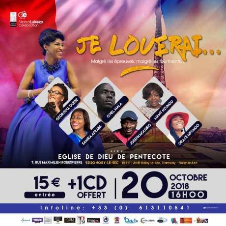 Concert Nana Lukezo, je louerai... @ Eglise Dieu de la Pentecôte | Noisy-le-Sec | Île-de-France | France