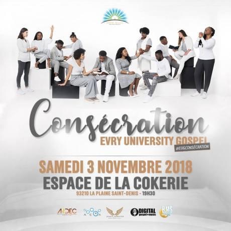 Concert Evry University Gospel, Consécration @ Espace de la Cokerie | Saint-Denis | Île-de-France | France