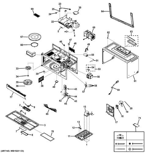 ge jvm6175ek1es parts list trible s