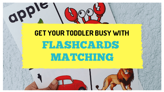 Flashcards matching with toddlers | www.tribobot.com