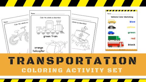 Transportation Coloring Worksheets