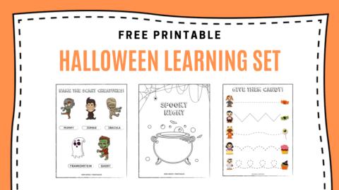Free Printables: Halloween Learning Set