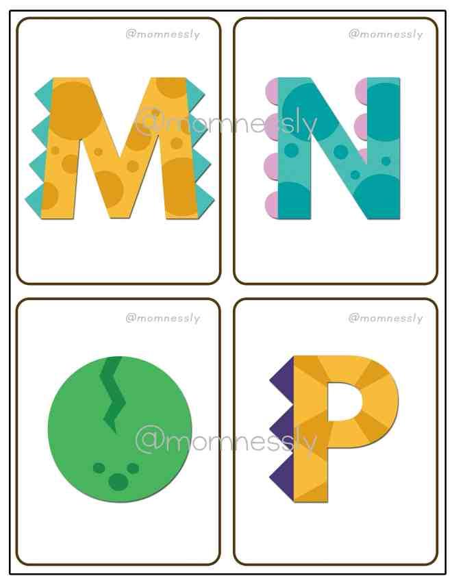 Free Printable: Dinosaur Alphabet Flashcards