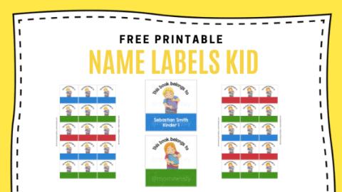 Name Labels Board Free Printable