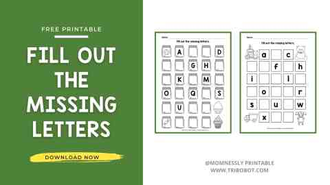 Free Printable: Fill Out the Missing Letters Worksheet MomNessly