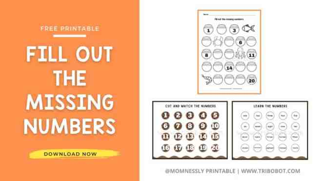Free Printable: Fill Out the Missing Numbers MomNessly