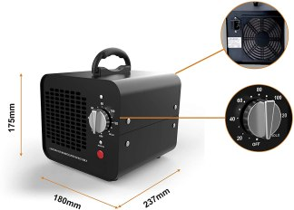 Generador de Ozono - Purificador de Aire - 10000 MG/h con temporizador