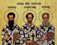 Sfinţii Trei Ierarhi Vasile, Grigorie şi Ioan