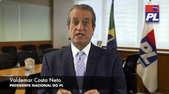 Vídeo: Valdemar Costa Neto abre as portas do PL a Bolsonaro