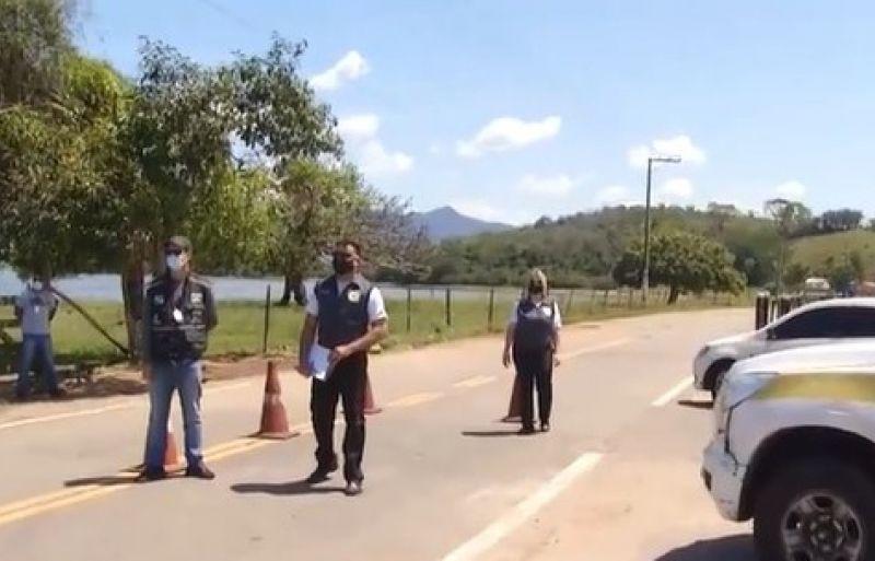 Lagoa de Cima fica menos movimentada após instalação de barreiras sanitárias em Campos