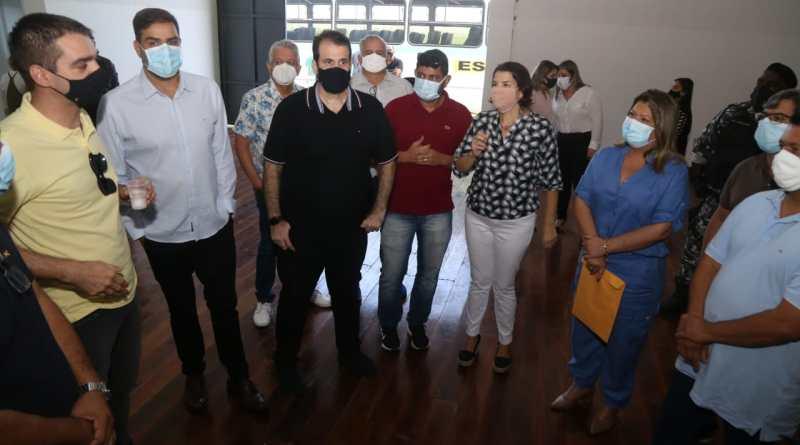 Prefeita Francimara, deputado Aureo e secretária de Estado de Cultura anunciam investimentos