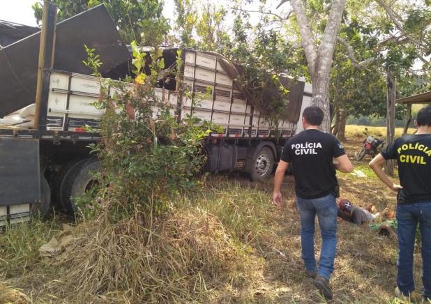 Grupo é preso após roubar caminhão com 200 sacas de café em RO