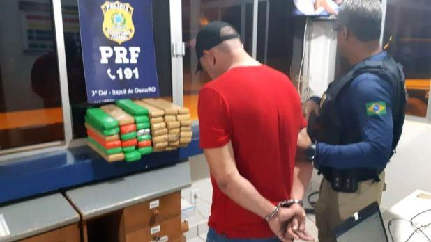PRF prende motorista com 40 quilos de maconha na BR-364