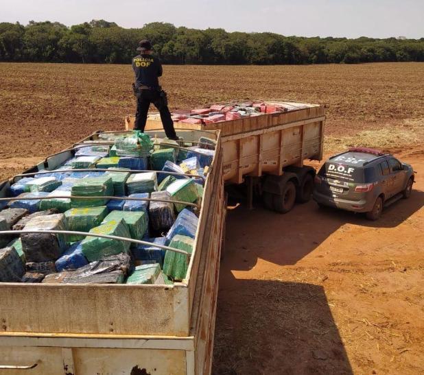 Polícia apreende 33 toneladas de maconha no MS na maior apreensão de drogas do País