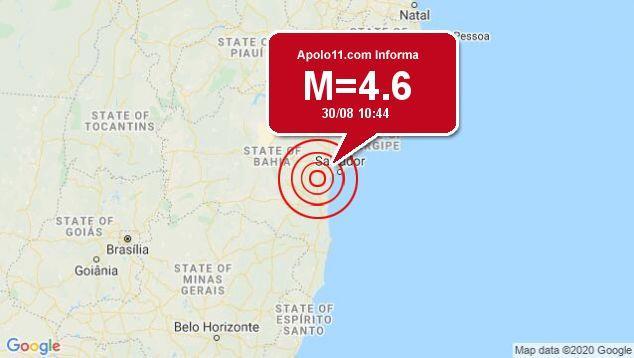 Em 24h, Bahia registra dois tremores de terra de magnitude 4,6 e 2,7 neste domingo; veja vídeos