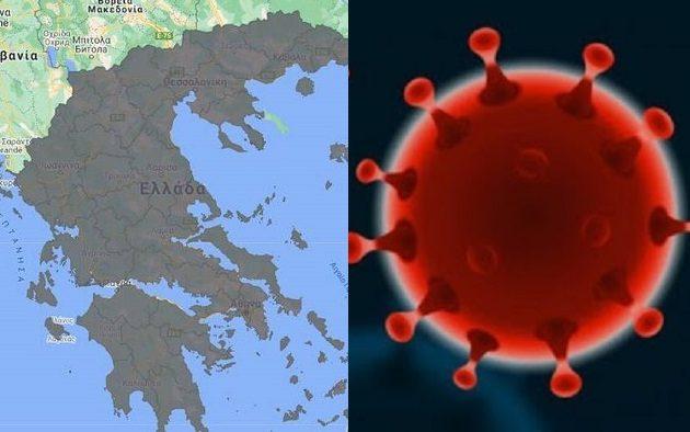 Σύνολο 12.024 θάνατοι: 1.497 κρούσματα, 510 διασωληνωμένοι, 29 θάνατοι – Η «γεωγραφία» των κρουσμάτων