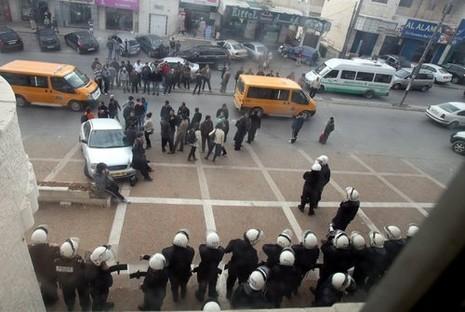 manifestations ramallah contre reunions paix