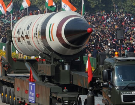 India's Nuclear-Capable Agni-5 Ballistic Missile Aces Test Launch