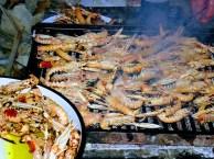 škamp na stupnici