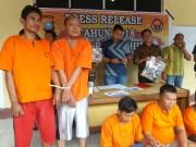 Press Release Pengungkapan Kasus Pencurian Dengan Kekerasan oleh Polres Rohil