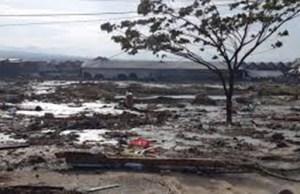 Kondisi salah satu daerah di Palu pasca Tsunami