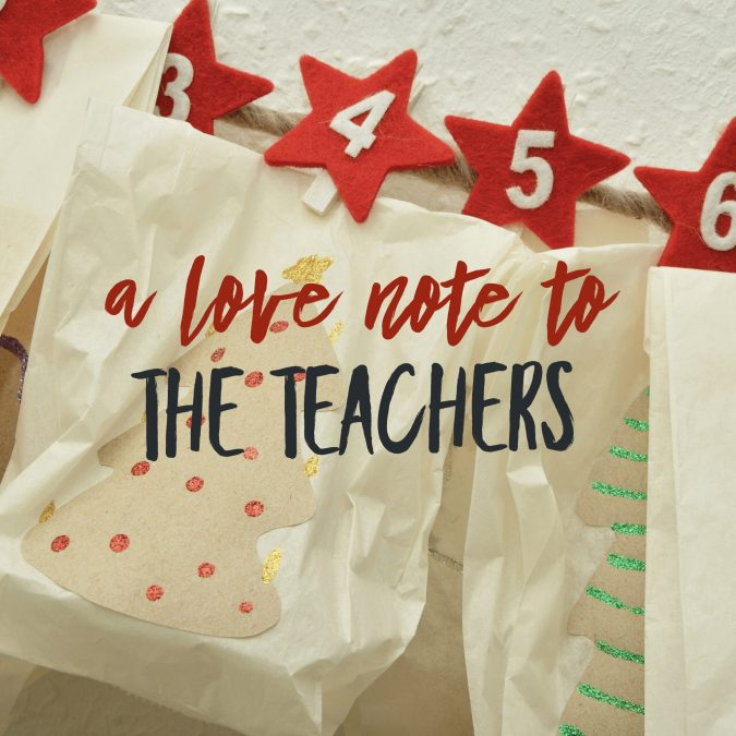 The Champions of December: A Love Note to the Teachers