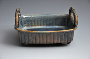 Weathered Blue and Brown Medium Tray