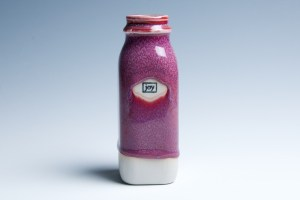 "Small Raspberry ""Joy"" Milk Bottle | Tricia Ree McGuigan"
