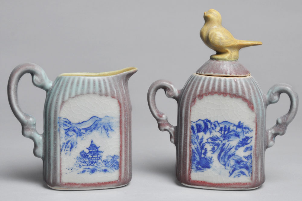 Pastel Bird Cream and Sugar Set | Tricia Ree McGuigan