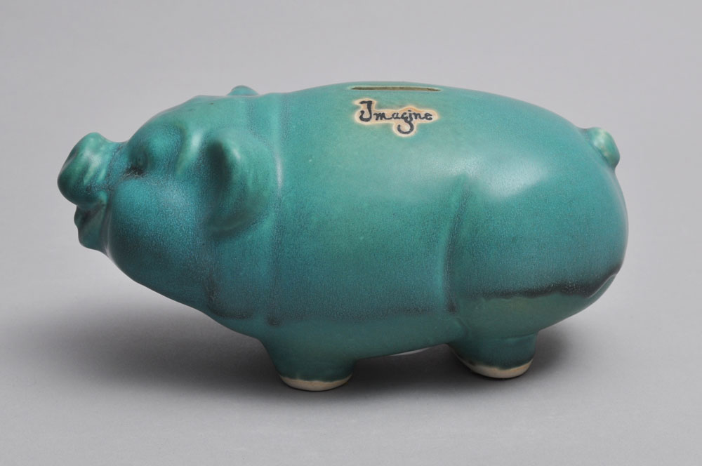 Turquoise Piggy Bank | Tricia Ree McGuigan | Functional Porcelain