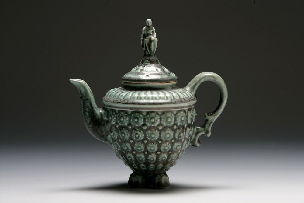 Weathered Green Knight Teapot | Tricia Ree McGuigan