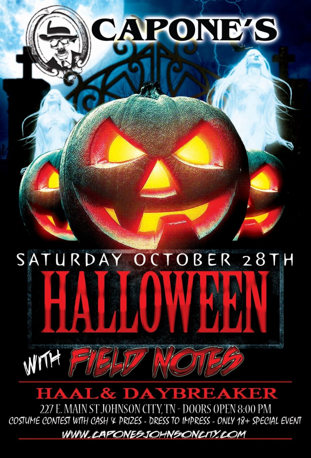 halloween show field notes with haal and daybreaker at capone s