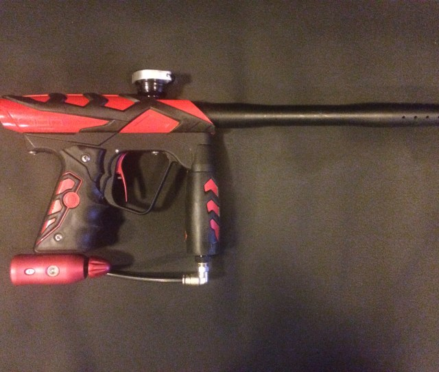 Smart Parts Ion Red Gun Has Upgraded Trigger And Red Bolt Freak Barrel With 691 Insert And Stock Barrel Extra Parts Seen In The Pictures