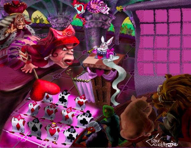 Scene from Alice in Wonderland