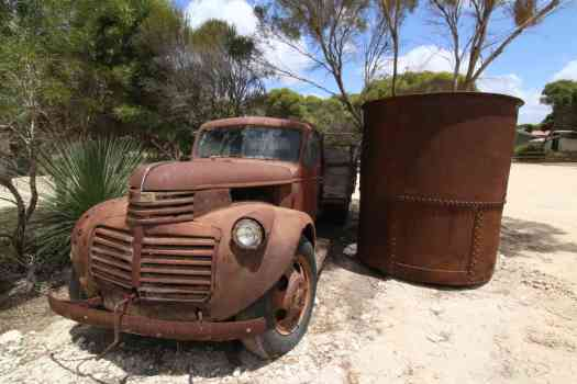 Old truck at the Eucalyptus distillery