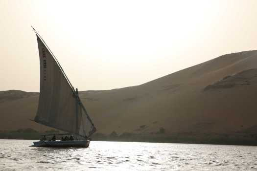 Felucca on sunset on the Nile