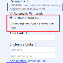 custom-permalink- 5 On-Page SEO basics that Every Beginner must follow for His Blog`s Success.