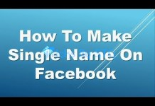 Facebook Single Name Trick